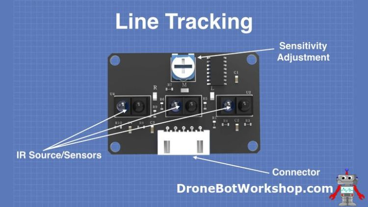 Line Tracking Sensor Components