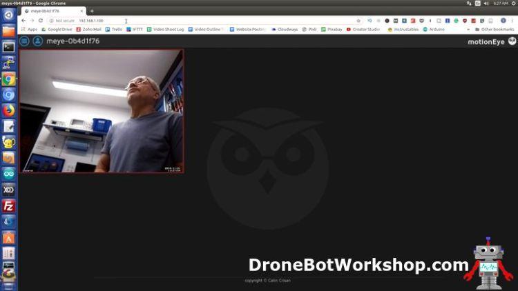 motionEyeOS Browser Screen