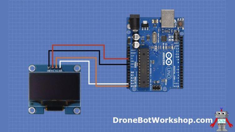 OLED Hookup with Arduino using I2C