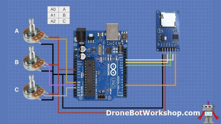 Arduino SD Datalogger Hookup