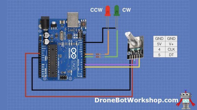 Arduino Encoder Test Hookup