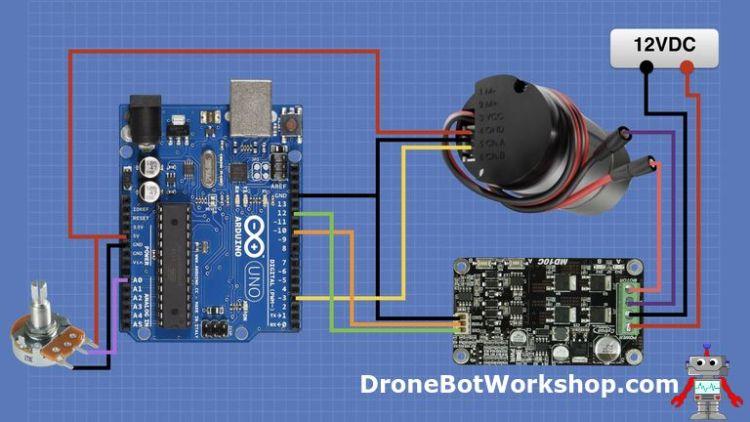 Arduino Motor Encoder Hookup