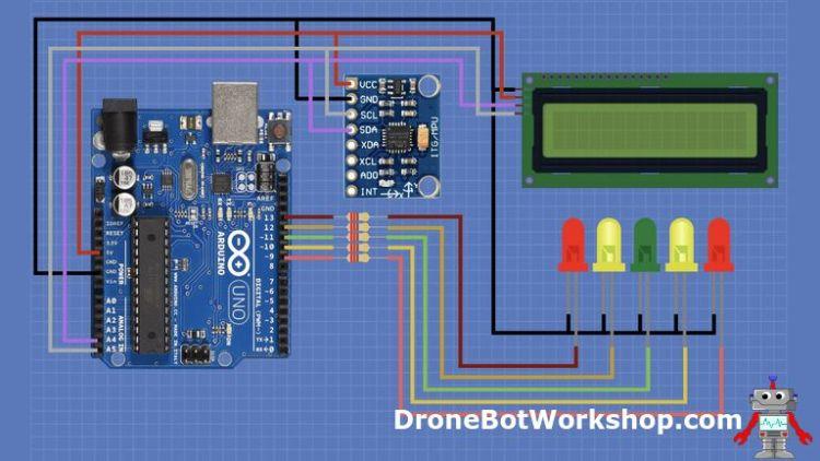 MPU-6050 Arduino Electronic Level