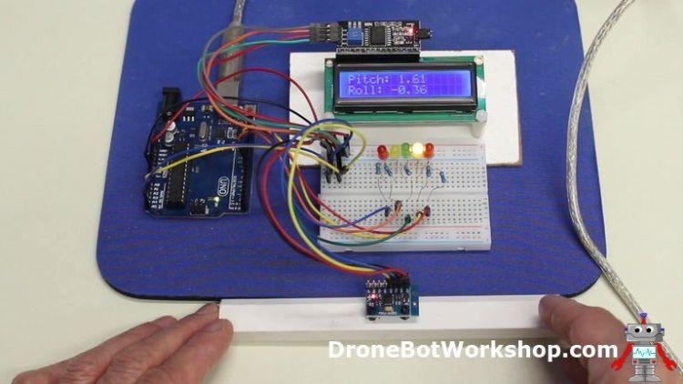MPU-6050 Electronic Level Demo
