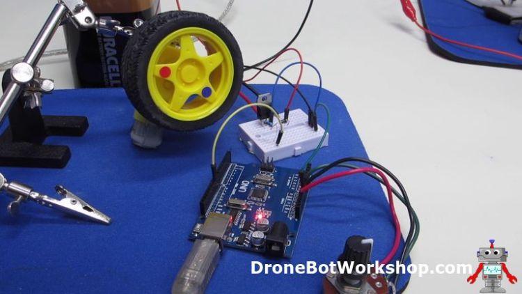 Arduino Motor Control on Breadboard