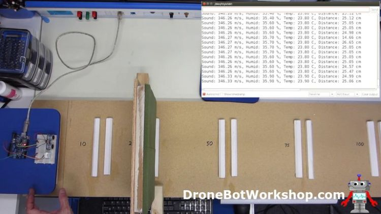 HC-SR04 distance-test