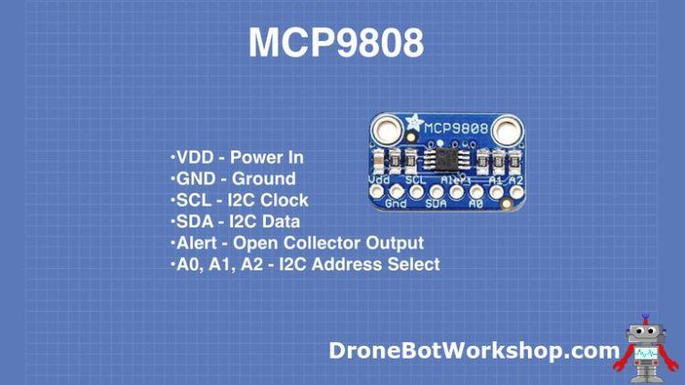 MCP9808 Pinout