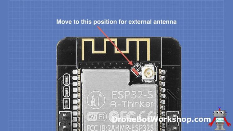 ESP32-CAM Antenna - External Strapping