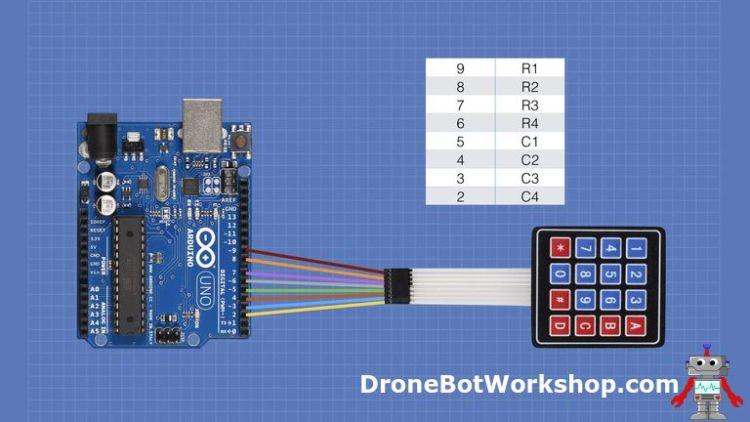 Keypad Arduino Hookup