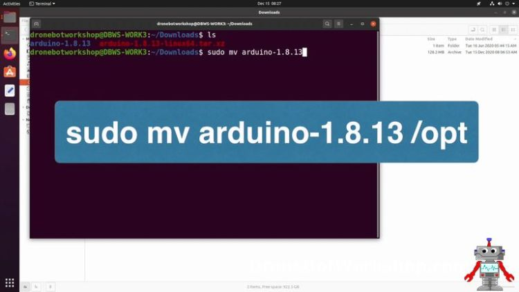 Arduino IDE move files