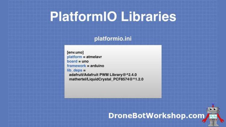 PlatformIO platformio.ini file