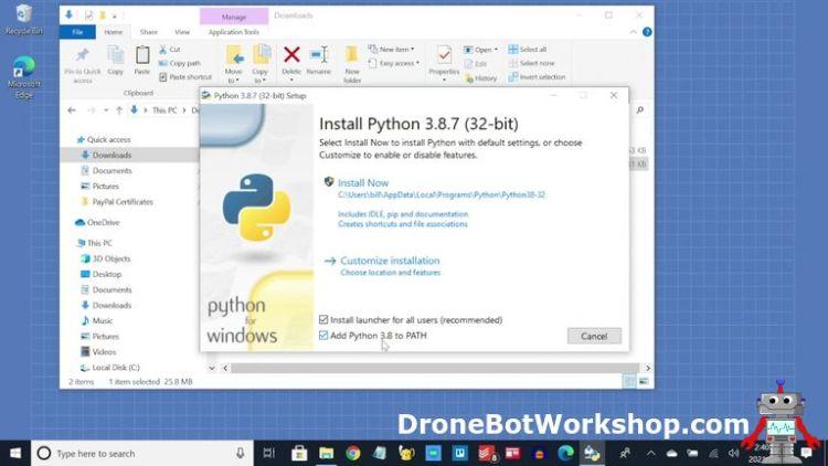 Python Windows Install Add to Path