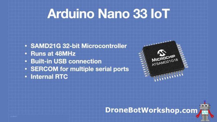 Arduino Nano 33 IoT SAMD21G