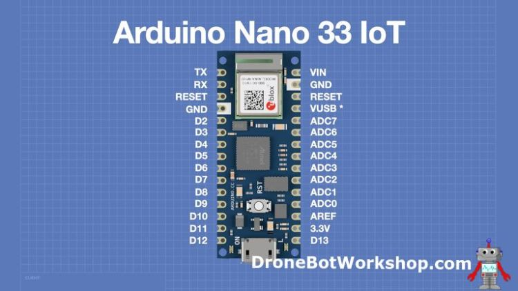 Arduino Nano 33 IoT Pinout