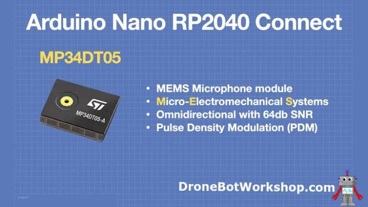 Arduino Nano RP2040 Connect - MEMS Microphone