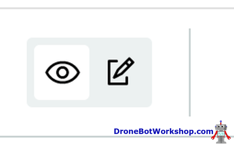 Arduino IoT Dashboard Edit Mode