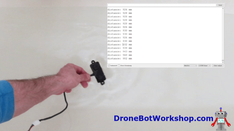 Distance Sensor Underwater Test