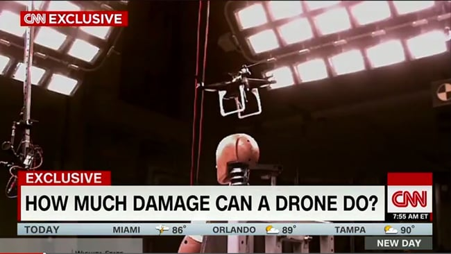Frame grab from CNN report
