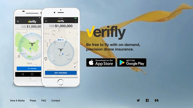 Verifly home page