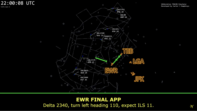 radar plot of Newark (EWR)