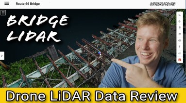 Bridge Inspection - LiDAR Drone Data review with DJI M300 and ROCK R2A