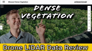 Drone LiDAR Date Review and Processing: Dense Vegetation