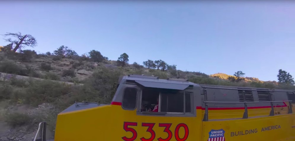 Flight of the Year - Paul Nurkkala - video shows drone flying inside, under and on top of a moving train 2