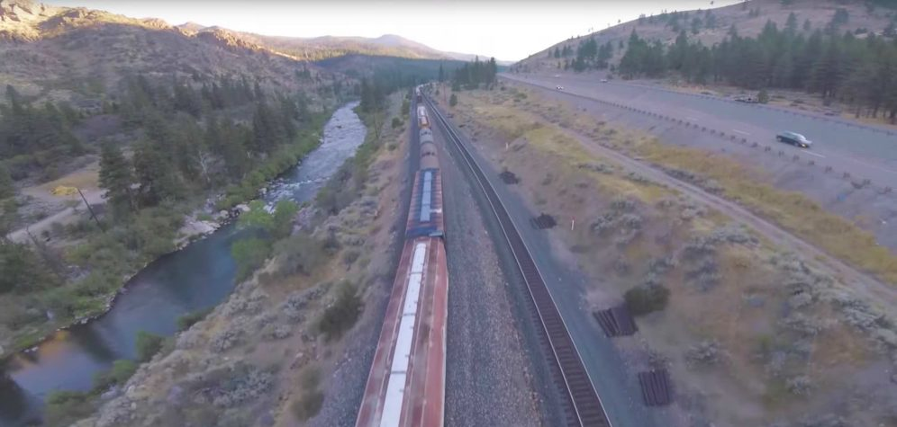 Flight of the Year - Paul Nurkkala - video shows drone flying inside, under and on top of a moving train 4