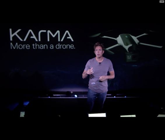 Nick Woodman GoPro Karma Drone with Follow Me and Look Up feature
