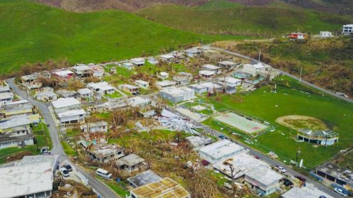 Drone video shows widespread devastation in Puerto Rico from Hurricane Maria