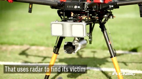 DroneHunter intercepts trespassing drones with radar and net