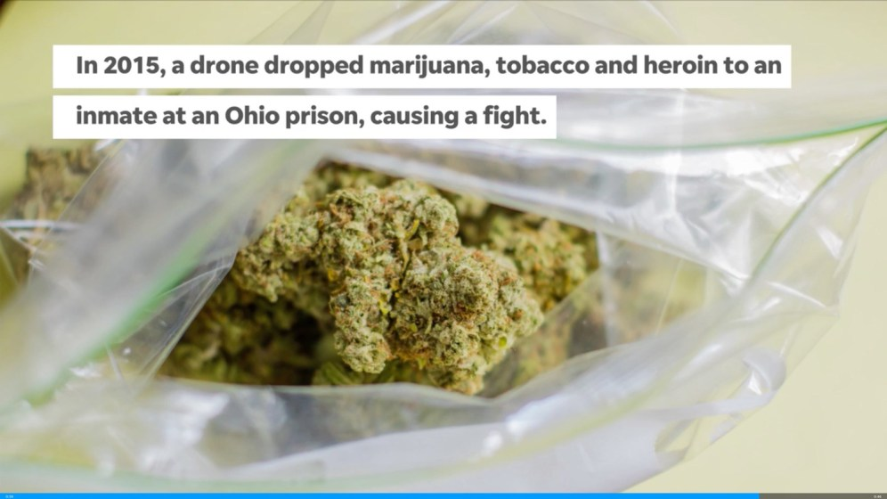 Drone delivering phones and drugs crashes inside Buckeye prison yard0000