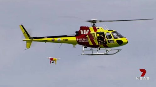 Drones to the rescue at beaches in Perth, Australia