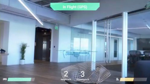 Today, Epson, providers of the Moverio AR smart eyewear platform, and DJI, the Chinese drone manufacturer, announced a glassed based augmented reality drone flight simulator app. The app has been developed by Y Media Labs exclusively for theEpson Moverio BT-300 (FPV/Drone Edition) smart glasses. This app could be used as a drone pilot training tool to prevent drone incidents from happening.
