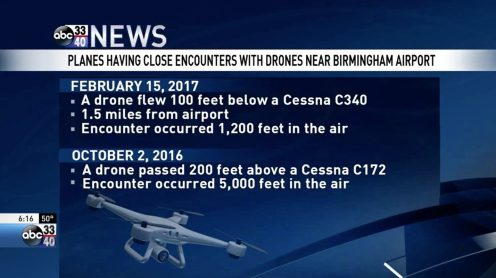 Multiple drone incidents at Alabama's busiest airport0010
