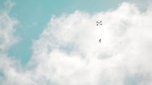 Skydiving from a drone, seriously?