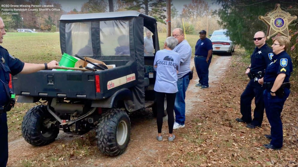 The Randolph County Sheriff's Office used a drone to find a missing 82-year-old woman this weekend!