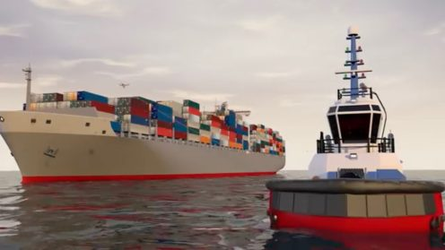 Drones improve towage safety in Rotterdam harbor