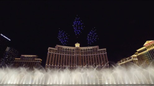 Intel shows of it drone swarm skills during a light show at the Bellagio 0004
