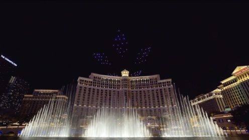 Intel shows of it drone swarm skills during a light show at the Bellagio 0020