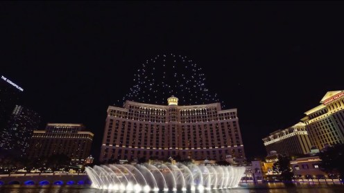 Intel shows of it drone swarm skills during a light show at the Bellagio 0026