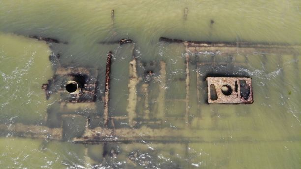 Drone video of Civil War-era shipwreck captured by North Carolina beachgoer 3