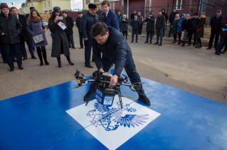 Russian postal drone crashes into a wall during debut flight 0002