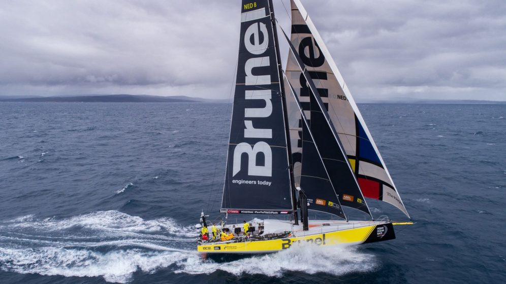 Watch this crew fly and catch a drone from a sailing Volvo Ocean Race yacht [video] 0000
