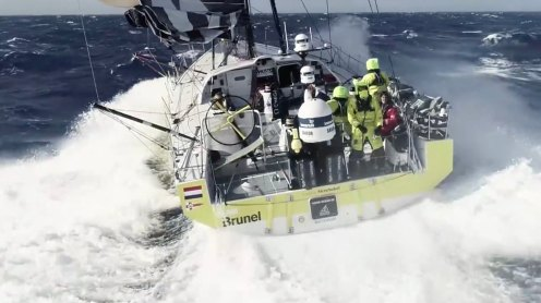 Watch this crew fly and catch a drone from a sailing Volvo Ocean Race yacht [video] 0008