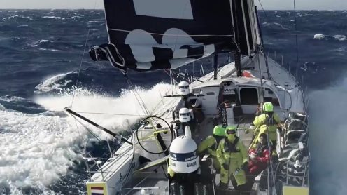 Watch this crew fly and catch a drone from a sailing Volvo Ocean Race yacht [video] 0009