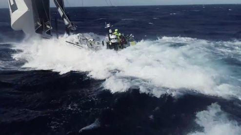 Watch this crew fly and catch a drone from a sailing Volvo Ocean Race yacht [video] 0012
