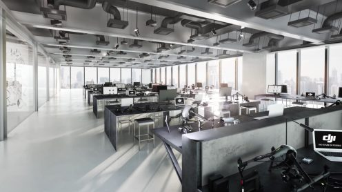 DJI's new head offices in Shenzhen feature a skybridge to launch drones from 0006