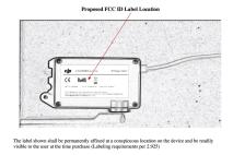 DJI FCC filing for a new 'Multilink' wireless communication device - FCC ID SS3-NB06251803 4