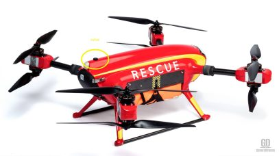 Auxdrone Lifeguard drone assists in the rescue of three people in Puerto de Sagunto, Spain 0000